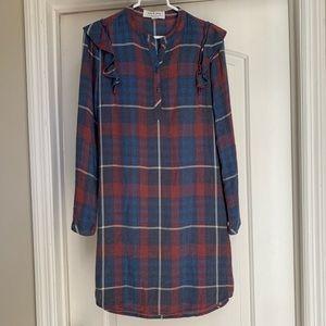 ANTHROPOLOGIE Cloth&Stone Plaid Shirtdress SZ XS